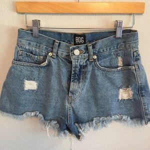 BDG UO High-Rise Denim Cutoff Shorts Size 28